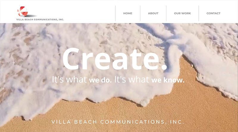Villa Beach website