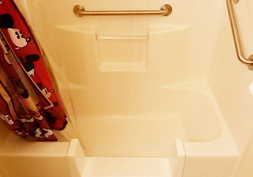Tub to walk-in shower conversions - fiberglass surround