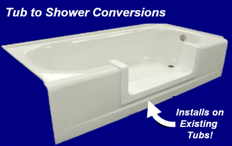 DIY Tub to Shower Conversions - Installs on Existing Tubs