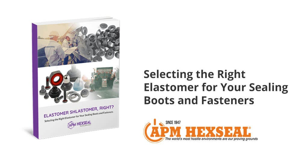 Elastomers for sealing boots and fasteners